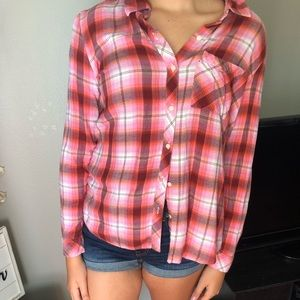 GAP Tops - Gap, large , pink flannel.